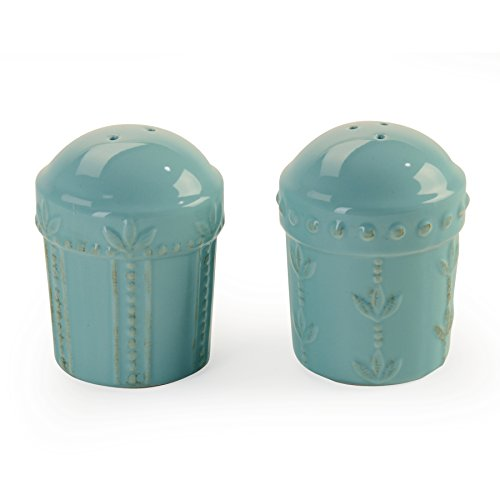 (Signature Housewares Sorrento Collection Salt and Pepper Shakers, Aqua)