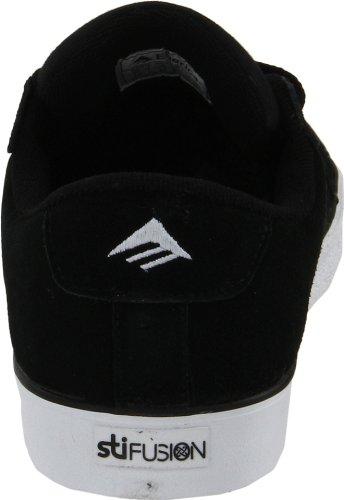 Emerica Zapatillas unisex 2 ante de Schwarz HSU LOW White skate 6102000070 de Negro FUSION Black ZZrwv
