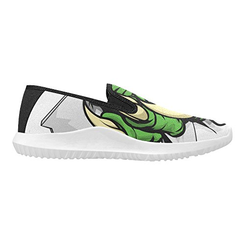 D-story Chaussures Zombie Eye Slip-on Toile Sneakers Femme Griffe