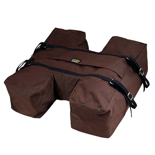 TrailMax Top-Pack for Sawbuck Or Decker Pack Saddle, Horse and Mule Packing H-Style, High Volume Pack Bag Featuring PCV Coated Poly Shell for Resistance from The Elements, Brown