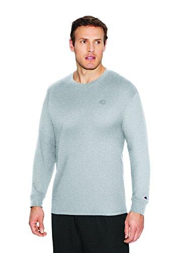 Champion Men's Classic Jersey Long Sleeve T-Shirt, Oxford Gray, M