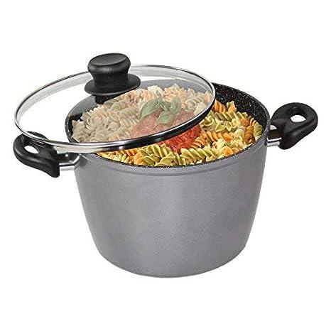 Stoneline - The Original Cooking Pot with Glass Lid, 24cm, 6.5 LTR Sauce Pots & Handis at amazon