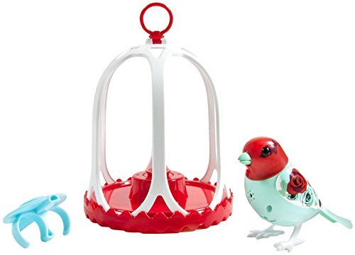Digibirds – Bird with Bird Cage – rosa by Digi Birds