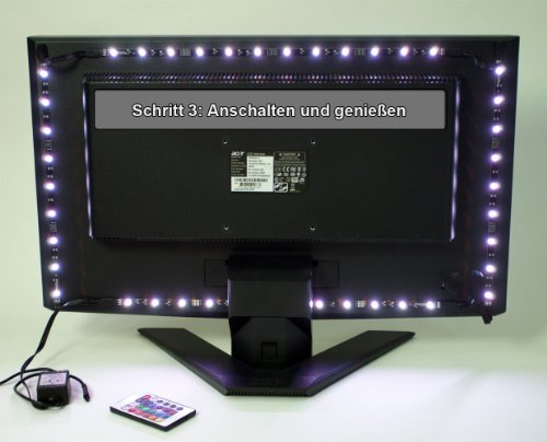 stromversorgung ber usb led tv hintergrundbeleuchtung f r. Black Bedroom Furniture Sets. Home Design Ideas