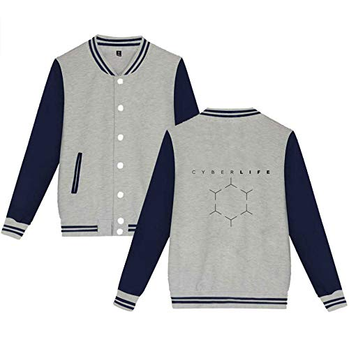 Imprimées Fashion Manteaux Confortable Grey03 Baseball Veste Hommes Sweat De shirts Detroit Unisexe Femmes Become Gogofuture Human Décontractée wXxIFqxP