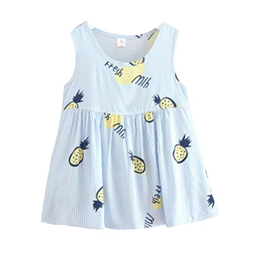 Koala Superstore [R] Kids' Pajama Home Nightdress Sleeveless Cotton Dress Vest Skirt for Girls by Koala Superstore