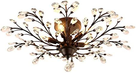 Ganeed Crystal Ceiling Light,Vintage Chandelier