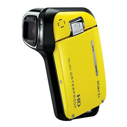 Sanyo Xacti VPC-CA9 GX High-Definition 720p Waterproof Camcorder, 9 MP, 5x Optical Zoom Dual Camera (Yellow)