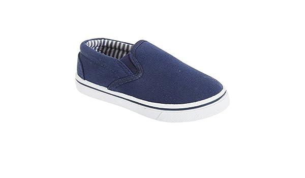 Amazon.com | Dek Childrens/Kids Slip On Canvas Shoes (11 Junior US) (Navy) | Loafers