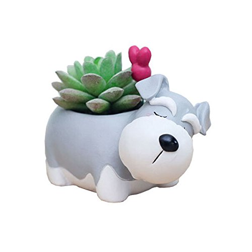 (Cuteforyou Cute Animal Shaped Cartoon Home Decoration Succulent Vase Flower)