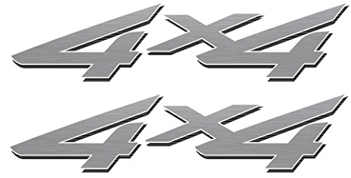 4x4 Off Road Decals (Silver) - 2002 to 2008 Ford Style