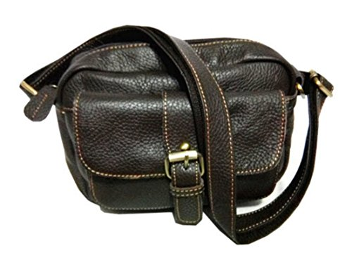 100% Genuine Leather Women's Retro One Pocket Satchel Shoulder Messenger Bags Small Clutch Tote For Ladies - Dark Grey