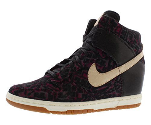 Nike Women's Dunk Sky HI PRM Black/Linen Casual Shoe 10 Women US