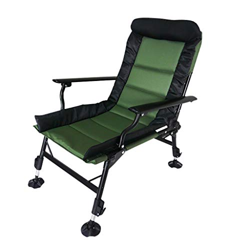 - Milisome World Portable Folding Fishing Chair Multi-Functional Lie-Flat Camping Chair Comfortable Can Lift Office Lunch Break Chair