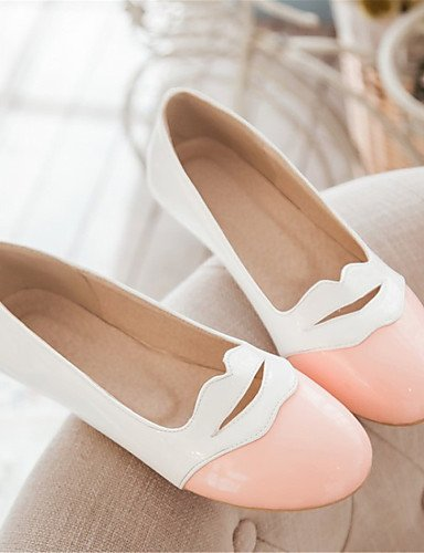 zapatos cn35 oficina comodidad eu36 mujer plano 5 de y us5 talón uk3 negro carrera pink charol de rosa amarillo Flats vestido casual 5 PDX pwqxSWF5w