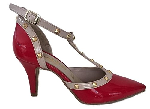 In Vernice Cm Rosso 2306 Tacco 7 Latika Art Scarpa Made Italy qPH1zH7w
