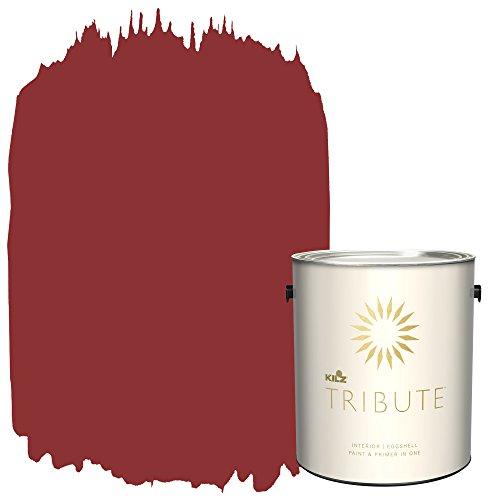 (KILZ TRIBUTE Interior Eggshell Paint and Primer in One, 1 Gallon, Haute Red (TB-97))