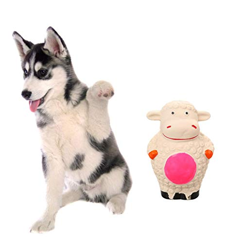 ckin Latex Cartoon Sheep Shape Squeaker Pet Dog Puppy Chewing Teeth Cleaning Play Toy - - Squeaker Sheep Mat