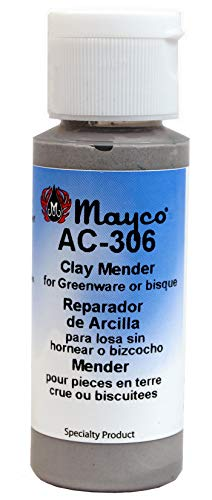 Mayco AC306 Clay Mender Bisque Fix for Ceramic Clay or Bisque, 2 oz Bottle