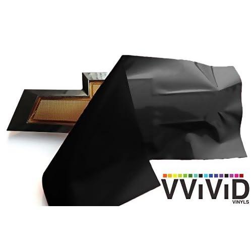 VViViD XPO Matte Black Chevy Bowtie Logo Wrap Kit 2 Rolls 118 X