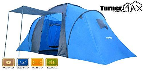 TurnerMAX Outdoor trijan 6001 4 Personen 2 große Schlafzimmer Familie Camping Wandern neuen Zelt