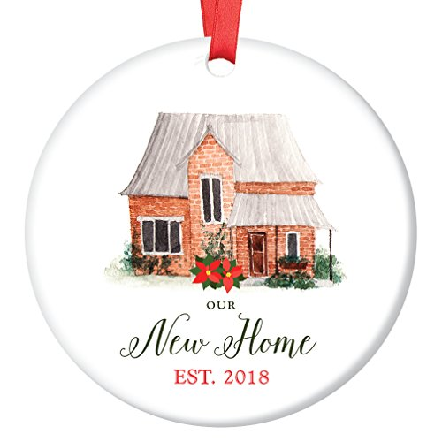 Our New Home Ornament Est. 2018, 1st Christmas in New House Ornament, First Christmas in our Home, 3