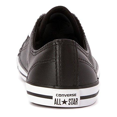 Converse Stjärna Läcker Läder Svart Läder