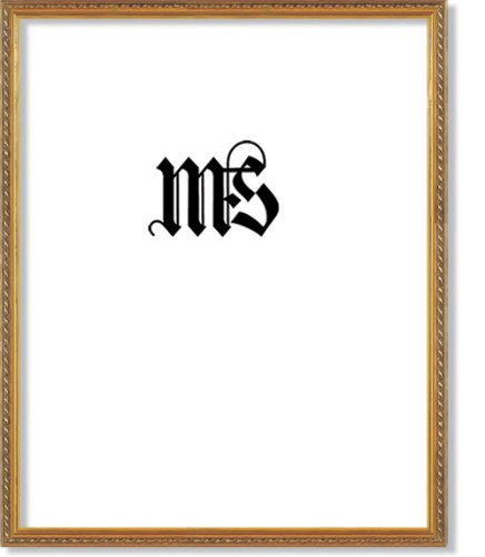 Gold Gesso Picture Frame Molding - MyFrameStore Imperial Frames 16 by 20-Inch/20 by 16-Inch Picture/Photo Frame, Thin Fancy Rope Shaped Gold Molding
