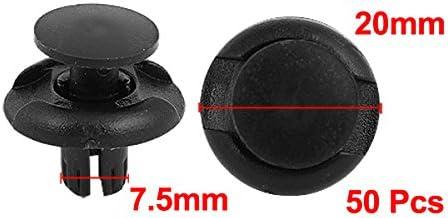 Sourcingmap 50 Pcs Rivet en Plastique Trou de 7.5 mm diam/ètre Clip de Fixation Pare-Choc Garde-Boue
