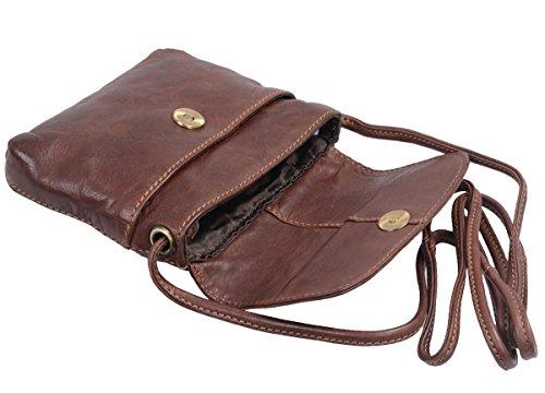 Bolso de mujer AVANCO, de cuero, 18x16x5cm Marrón