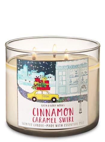 White Barn Bath & Body Works 3 Wick Candle Cinnamon Caramel Swirl