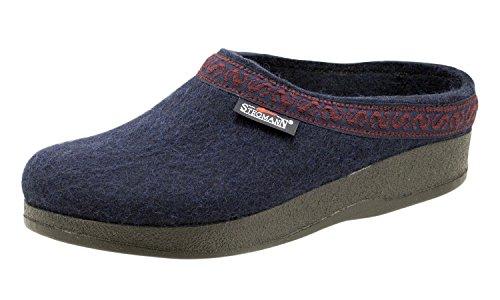 Stegmann Women's Wool Felt Clog with Polyflex Sole Blue