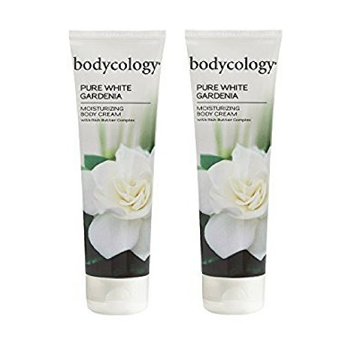 Bodycology Moisturizing Body Cream, Pure White Gardenia, 8 Ounce (2pack)