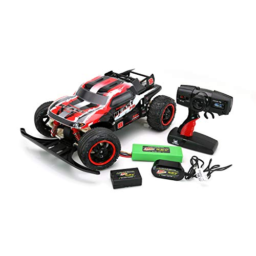 Steering Charger - RC CHARGERS Brushless Remote Controlled RC Truck, 1:10 Scale Brushless Motor | 20 MPH, Strong Suspension, Off-Road Capable, 2.4GHz, Pistol Grip Control | 9.6v Battery and Charger Included Beast
