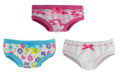 18 Inch Doll Underwear, Set of 3, Made by Sophia's Will Fit American Girl Dolls & More! Doll Clothes for 18 Inch Dolls
