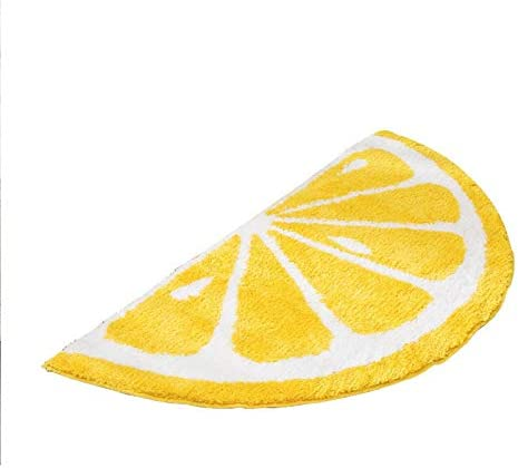 Creative Semicircle Cartoon Lemon Mats Anti-Slip Bathroom Outdoor Mats Sitting Room The Bedroom Doormats Lemon Room Rugs Bathmat L