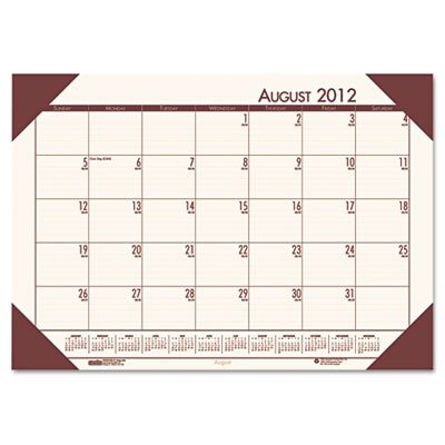 House Of Doolittle Ecotone Academic Desk Pad Calendar 13 X
