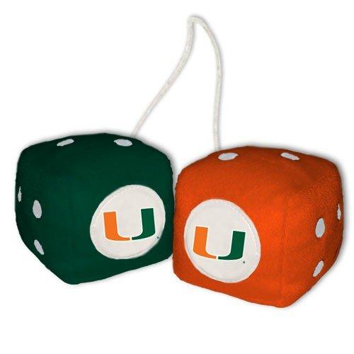 【高知インター店】 Miami NCAA Hurricanes UM NCAA Fuzzy Dice UM Miami B000RENPOW, アジムマチ:808ab6bf --- cliente.opweb0005.servidorwebfacil.com