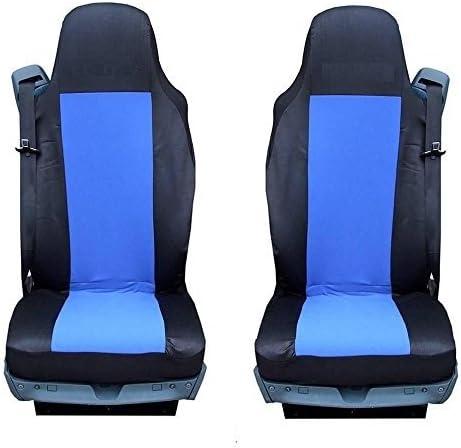A1 2 X Lkw SitzbezÜge SchonbezÜge Schwarz Blau Einteilig Polyester Neu Lkw Auto