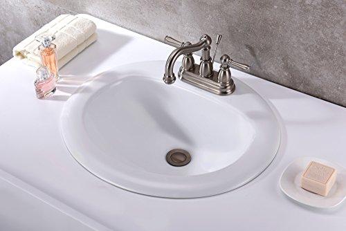 20.5'' Ceramic Drop-In Sink - Glossy White - Cadenza Series LS-AZ097 - ANZZI by ANZZI (Image #2)