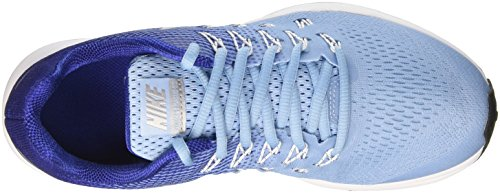 Nike Zoom Pegasus 33 (Gs), Zapatillas de Running para Mujer Azul (Bluecap / Metallic Silver-Deep Royal Blue)
