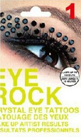 Eye Rock Temporary Eyeshadow 3D DIY Body Art Halloween Shining Rhinestone Tattoo Long Lasting Eye Decoration Makeup 1