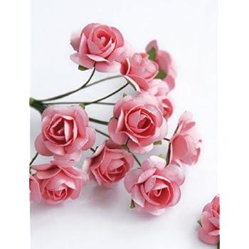 Amazon zva creative mini rose bulk paper flowers 5 12mm 144 zva creative mini rose bulk paper flowers 5 12mm 144 stems pink mightylinksfo
