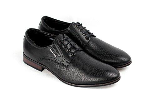 Moda para hombre Italiano Vestido Zapatos Negro