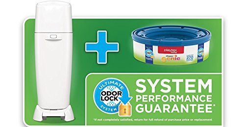 Playtex Diaper Genie Baby Registry Gift Set with 1 Diaper Genie Complete Diaper Pail, 8 Diaper Genie Refills and 8 Diaper Genie Carbon Filters for Odor Control by Playtex (Image #3)