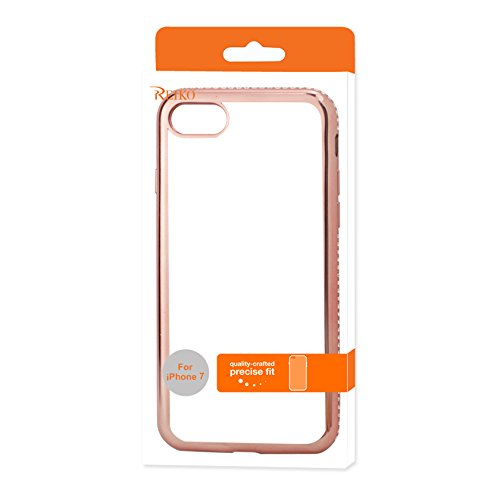 cheap for discount 3019c 5e536 Amazon.com: Reiko iPhone 7 Soft TPU Slim Clear Case with Diamond ...