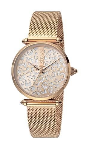Just Cavalli JC1L085M0075 316L Stainless Steel Mineral Crystal Deployment Buckle Watch