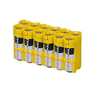 Storacell 12AACY by Powerpax AA Battery Caddy, Yellow, Holds 12 Batteries (B004YG7JXW) | Amazon price tracker / tracking, Amazon price history charts, Amazon price watches, Amazon price drop alerts