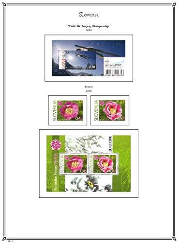 PALO Slovenia 2010-2017 hingeless Stamp Album Pages