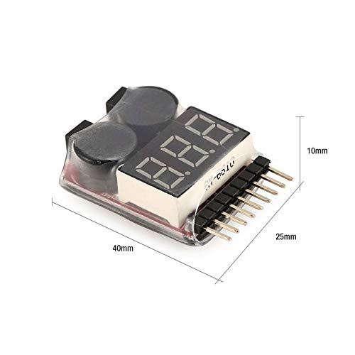 Canaan/_Z 2en1 1 s-8 Combinaison Basse Tension Buzzer Alarme Batterie LiPo testeur de Tension